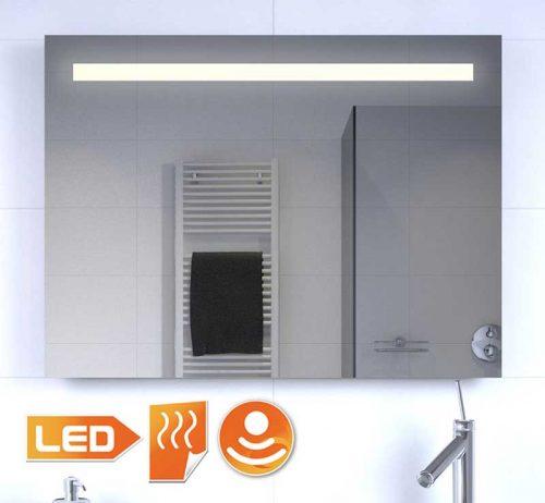 Badeværelse LED spejl med opvarmning og sensor 80x60 cm