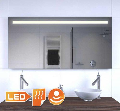 Badeværelse LED spejl med opvarmning og sensor 120x60 cm