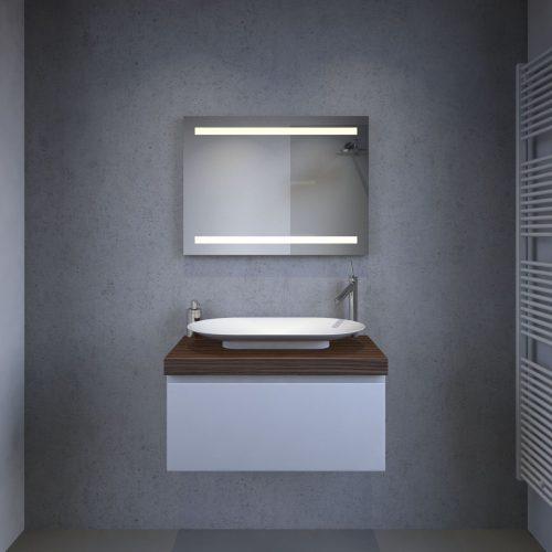 badeværelse spejl med spejl opvarmning