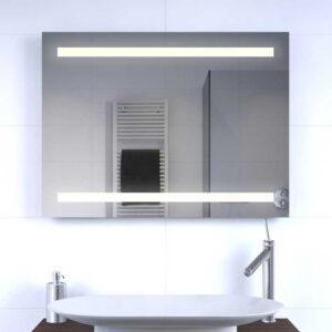 LED spejl med lys 80x60cm