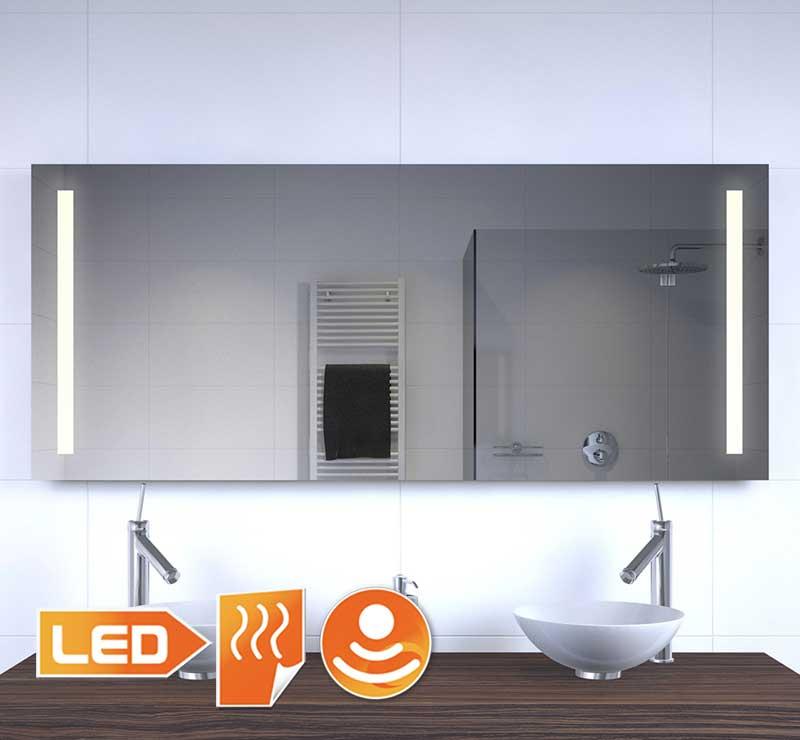 Badeværelse LED spejl med opvarmning og sensor dimmer