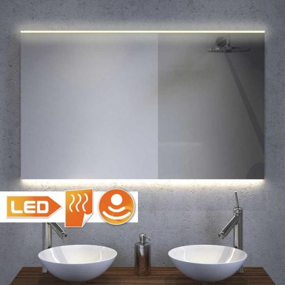 100 cm bredt badeværelse spejl med praktisk spejl opvarmning og praktisk belysning