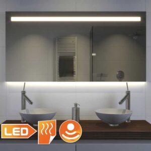 Populær model badeværelse spejl takket være den kombinerede belysning - 120 cm bred