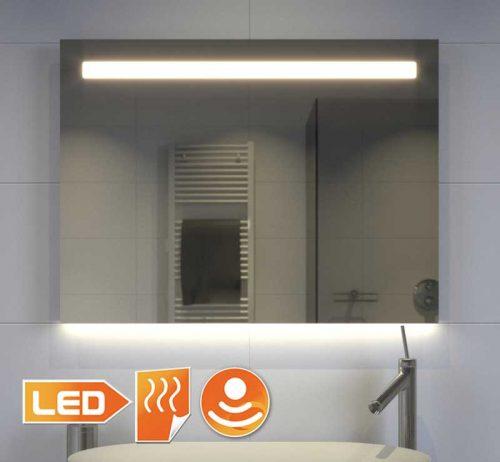 80 cm bredt spejl med direkte og indirekte belysning