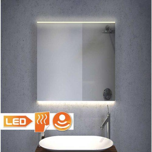 Opvarmet 60 cm bredt LED-spejl, dæmpeligt