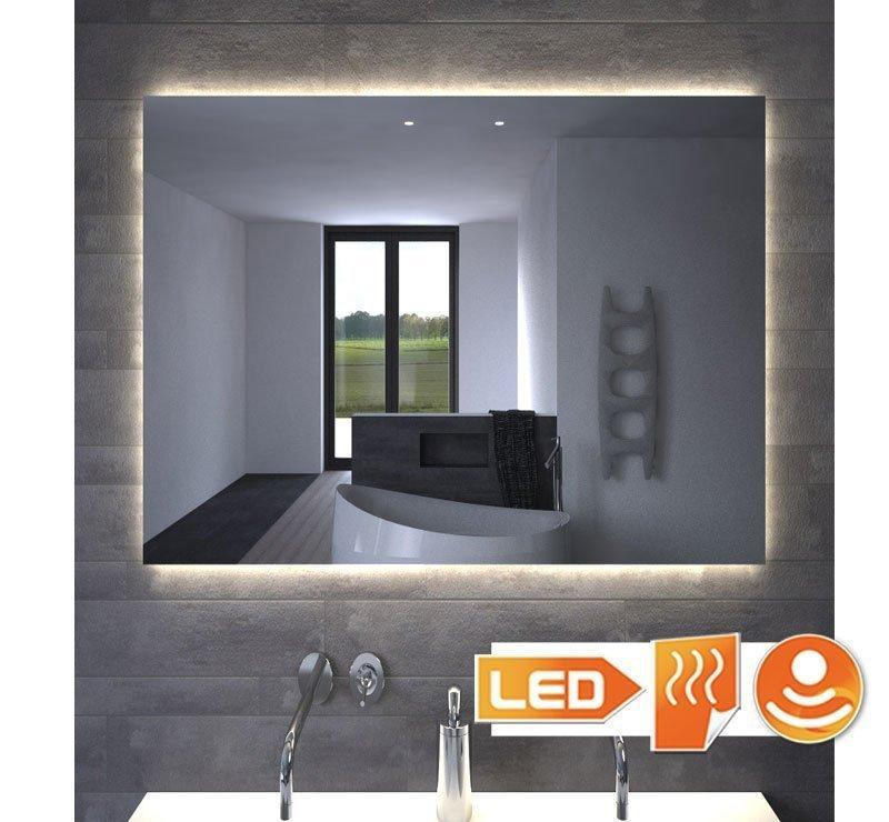 80 cm spejl med LED-lys og opvarmning