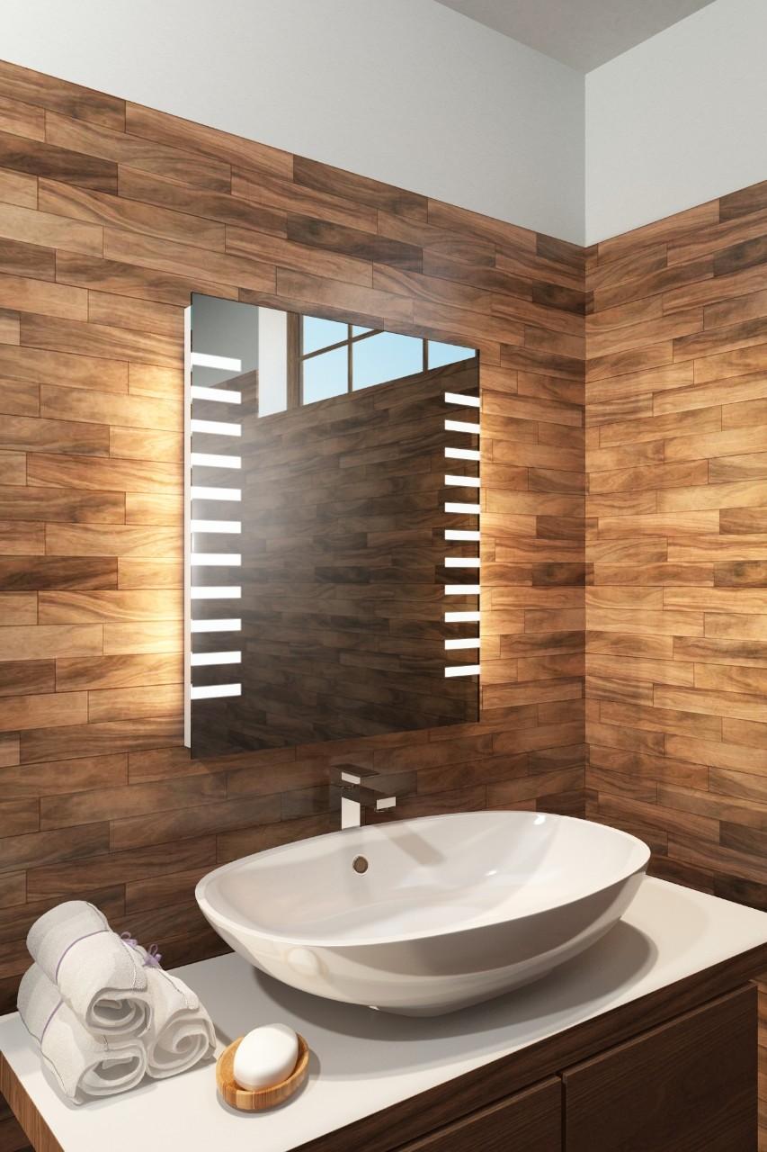 Auriga badeværelsesspejl med shaverstik