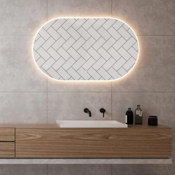 Ovalt spejl 100x60cm
