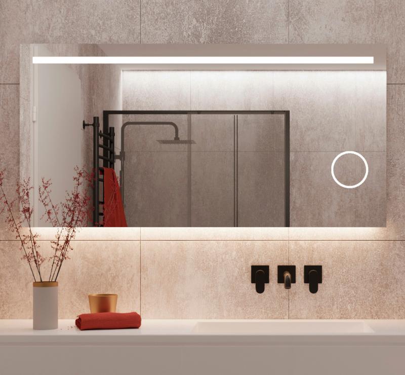 Dejligt spejl, meget komplet, med LED lys, varme og make-up spejl